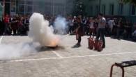 Kız Meslek Lisesi'nde Yangın Tatbikatı Yapıldı