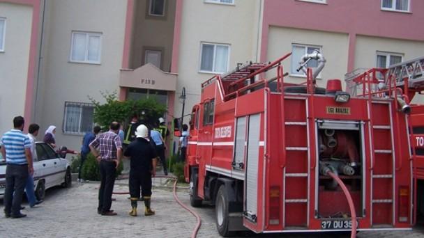 TOKİ'de Çıkan Yangın Korkuttu