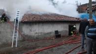 Tosya'da Tarihi Tekke Hamamında Yangın