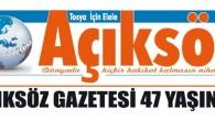 AÇIKSÖZ GAZETESİ 47 YAŞINDA