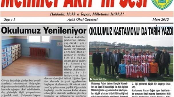 Mehmet Akif'ten Okul Gazetesi
