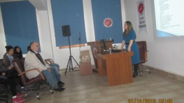 Tosya MYO'da  Tanıtım Semineri