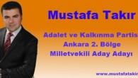 Ankara'da Tosyalı Bir Milletvekili Aday Adayı Mustafa Takır