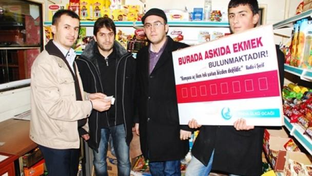 """Tosya Ülkü Ocakları """"Askıda Ekmek"""" projesine start verdi"""
