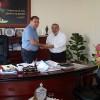 Mustafa Ünsal Sarı Basın Kartını Teslim Aldı
