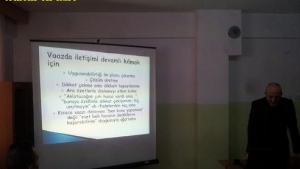 Din görevlilerine  Vaaz Eğitimi Verildi