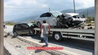 Kaza Ucuz Atlatıldı 4 yaralı