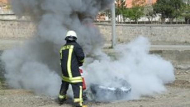Tosya İtfaiyesinden Yangın Tatbikatı
