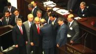 Başbakan Erdoğan, Kazım Şahin'e Rozetini taktı