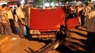 Tosya Cumhuriyet Meydanında Kaza Hafif Atlatıldı