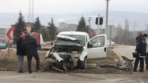 Tosya-Samsun kavşağında Kaza