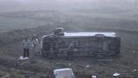 D-100 KARAYOLUNDA TRAFİK KAZASI 12 YARALI