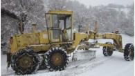 Yağan karda 13 köyün yolu kapandı