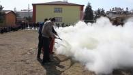 Öğrenciler yangın tatbikatı yaptı