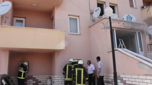 Anadolu Öğretmen Lisesi Lojmanlarında Yangın