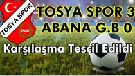 Tosyaspor 3 – Abana Gençler Birliği 0