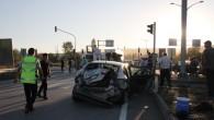 Tosya-Çankırı Kavşağında Trafik Kazası; 2 Yaralı