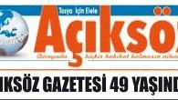 Gazeteniz Açıksöz 49 Yaşında