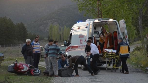 Beşevlerde Kaza; 1 Yaralı