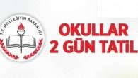 Tosya'da okullar 2 gün tatil