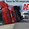 Tosya'da Tır Kazasında 1 kişi yaralandı
