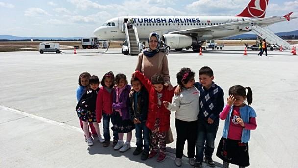 Öğrenciler Kastamonu Havalimanını gezdiler