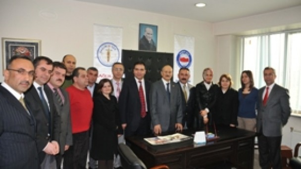 Sıvacıoğlu'ndan Sağlık Sen'e ziyaret