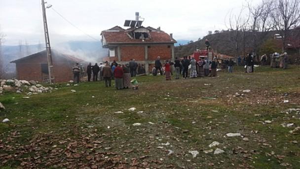 Suluca Köyü'nde çıkan yangın korkuttu