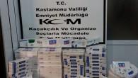 Tosya'da 3970 paket sigara yakalandı