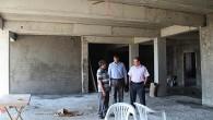Kaymakam Türköz,okul inşaatını denetledi