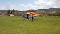 OGM ye ait helikopter Daday da müdür ve şef eşlerini gezdirmek için havalandı
