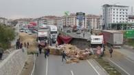 Çorum Kavşağı'nda Kaza Ucuz Atlatıldı