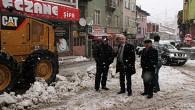 Belediye kar temizleme ekipleri işbaşında