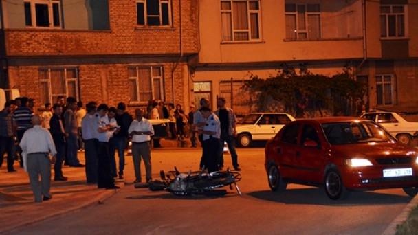 Hastane Kavşağında Motosiklet Kazası