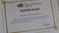 TUİK'ten Gazetemize Teşekkür