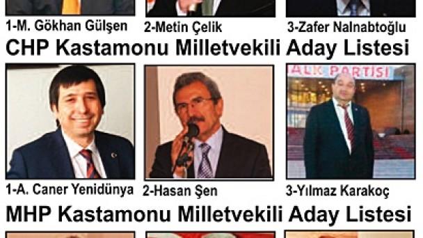 Milletvekili Aday Listeleri Açıklandı