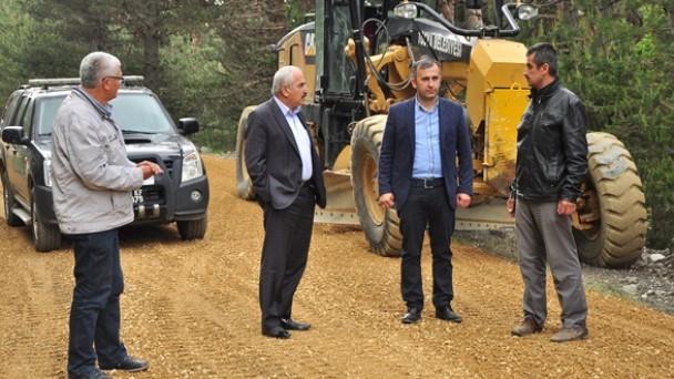 Çaybaşı ve Keçili Köy yollarında  asfalt çalışması