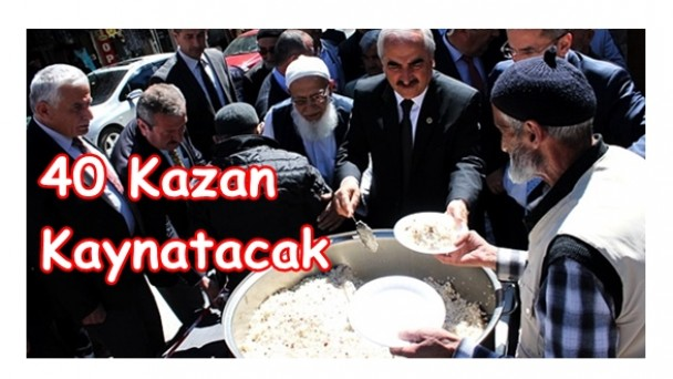 Başkan Şahin 40 Kazan Kaynatacak!