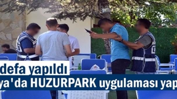Tosya'da ilk defa polis tarafından Huzur Park uygulaması yapıldı