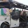 D-100 Karayolu'nda Yolcu Otobüsü Yandı