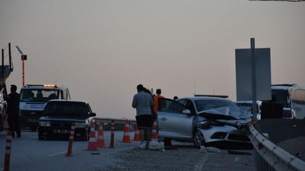 D-100'de Zincirleme Trafik Kazası