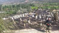 Tosya'da Mezarlıkta Büyük Yangın