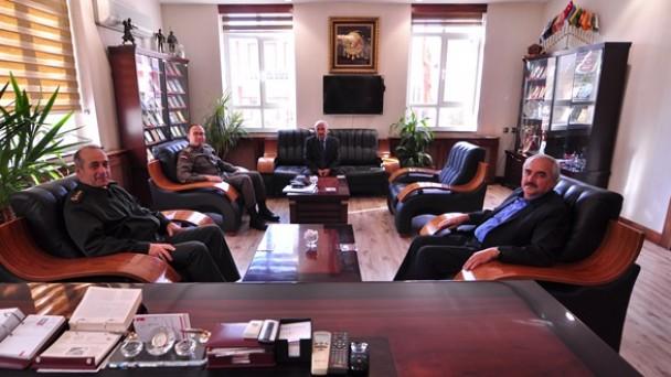 İl Jandarma Komutanından Başkan Şahin'e Ziyaret