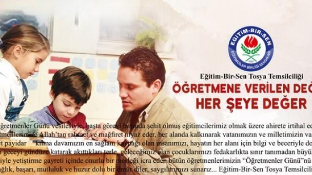 24 Kasım Öğretmenler Günü  Tebrik Mesajı