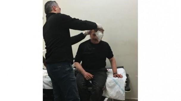 1 kişi gözünden yaralandı