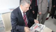 Başkan Köksal Toptan Gazetemizi İnceledi