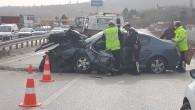 Çankırı Kavşağında Kaza; 1 Ölü 1 Ağır Yaralı