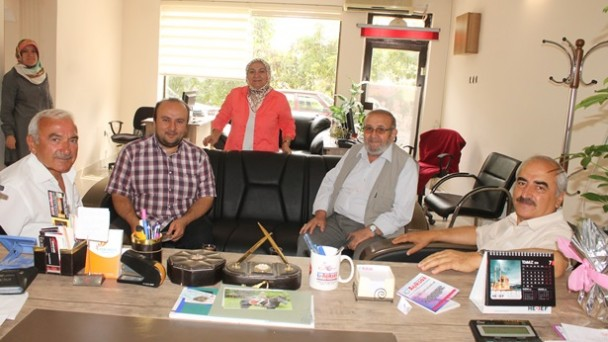 Başkan Şahin'den Gazetemize Ziyaret