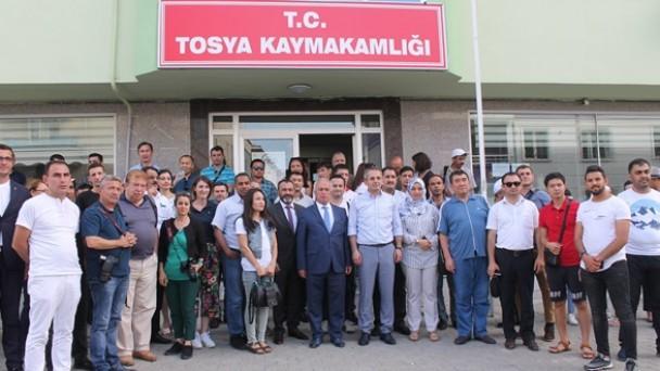 Uluslararası medya temsilcileri, Tosya'da