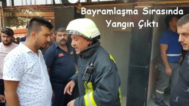 MHP İlçe Binasında Yangın